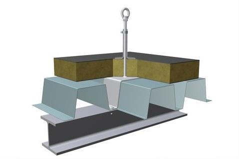 point d 39 ancrage toiture poutre acier et bac acier bac sec. Black Bedroom Furniture Sets. Home Design Ideas