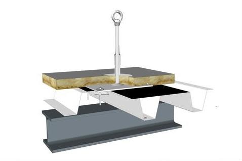 point d ancrage toiture b ton bac acier zinc bois sandwich autoportant etc. Black Bedroom Furniture Sets. Home Design Ideas